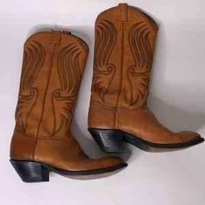 Tony Lama Maple Calf Boots, Size 9.5D
